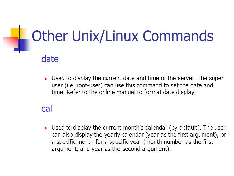 bif713 basic unix linux commands getting help with commands ppt rh slideplayer com manuel unix date David Page of Man