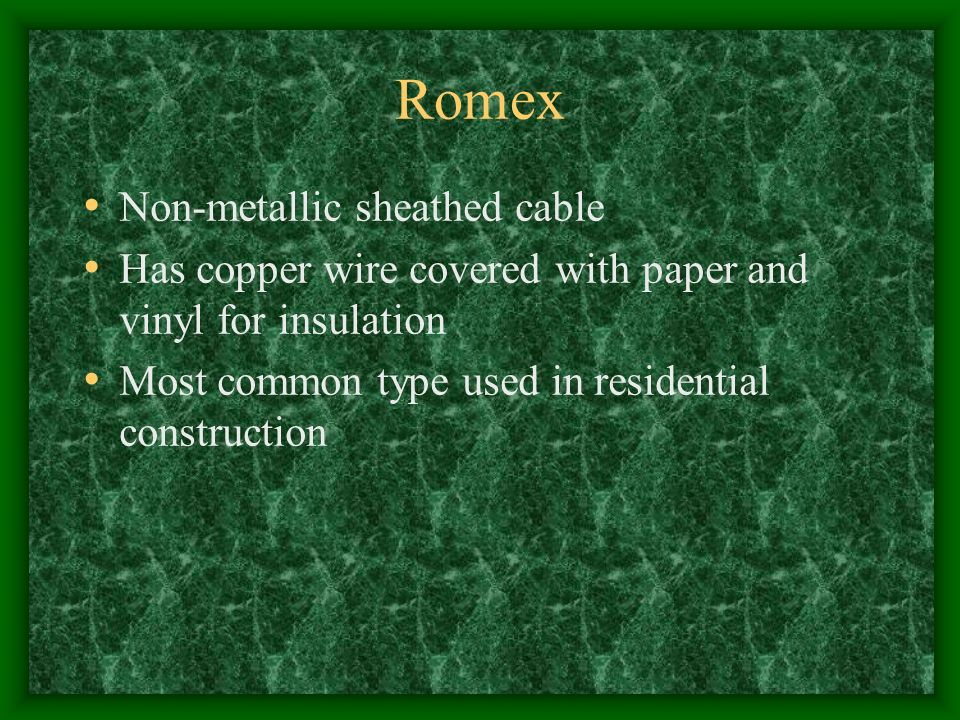 Objective Describe materials used in electric wiring  - ppt