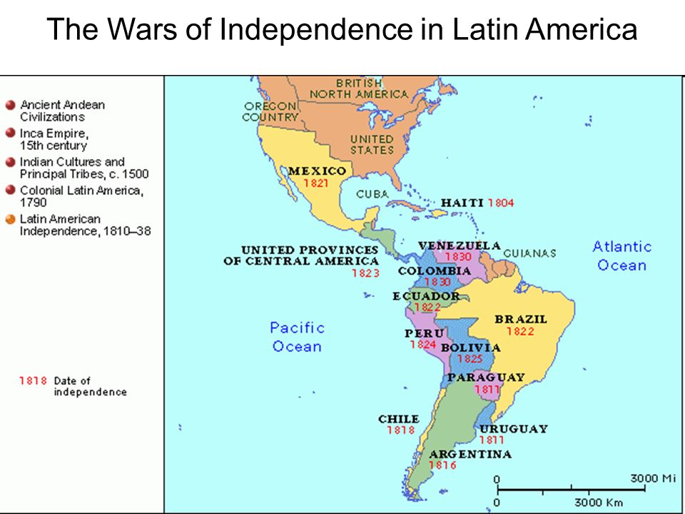 Colonial South America Map.The Wars Of Independence In Latin America Reasons For Revolution