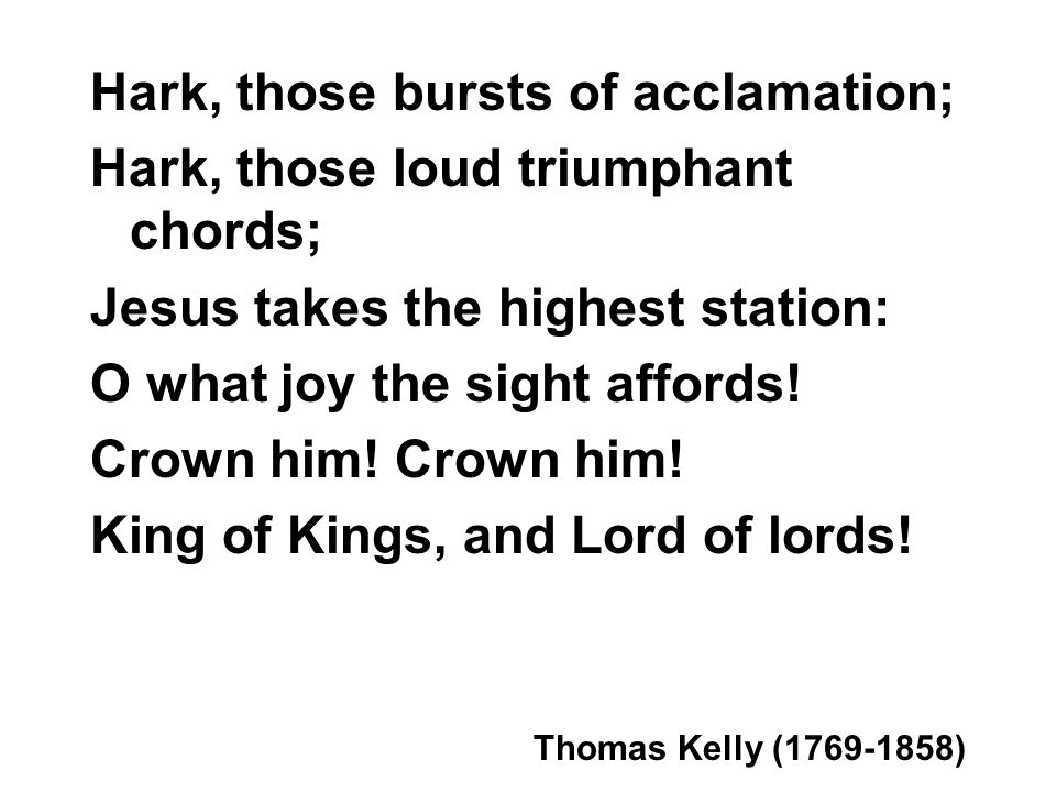 Look, ye saints, the sight is glorious; See the Man of Sorrows now ...