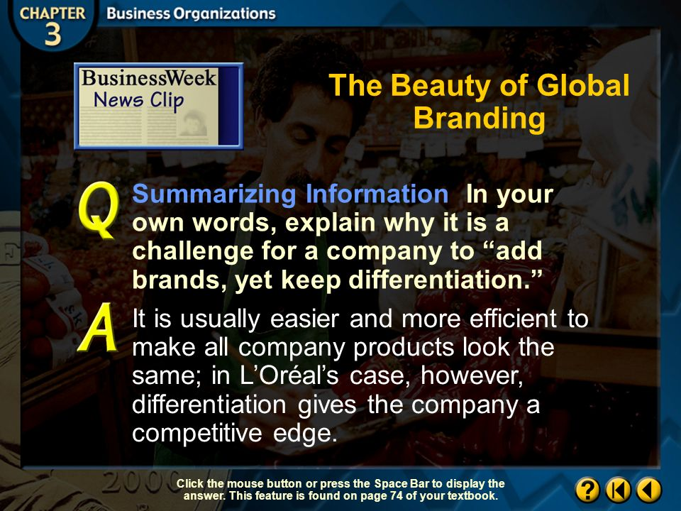 The Beauty of Global Branding BW Newsclip 2 Continued on next slide.