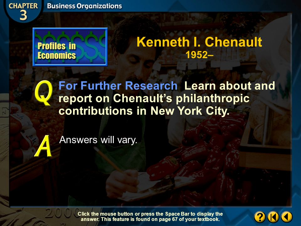 Profiles in Economics 1.2 Drawing Conclusions What personal qualities do you think Chenault has that helped make him a success.