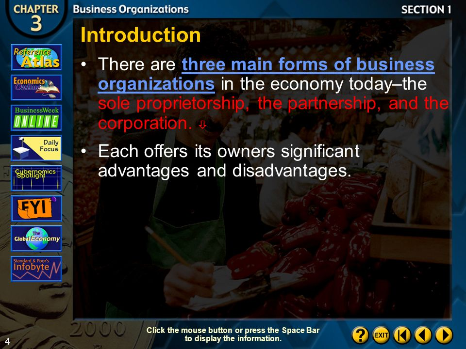 3 Section 1-3 Objectives After studying this section, you will be able to:  Applying Economic Concepts Unlimited Liability How is personal liability affected by the type of business owned.