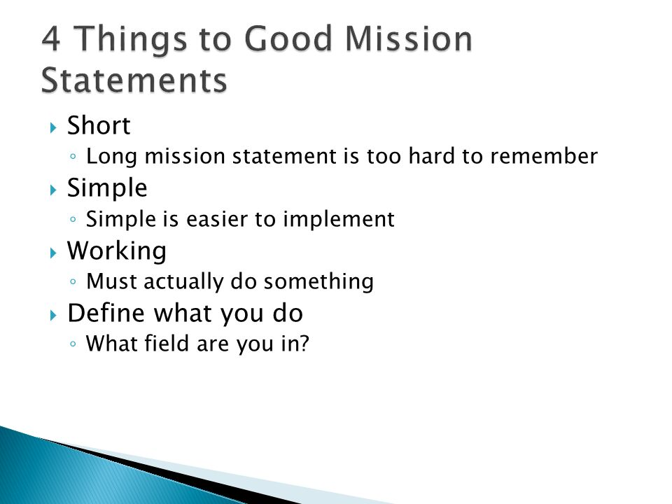 Assignment 14 Students Will Learn What A Mission Statement