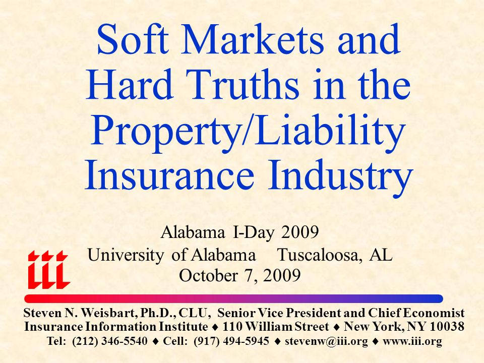 Soft Markets And Hard Truths In The Property Liability Insurance