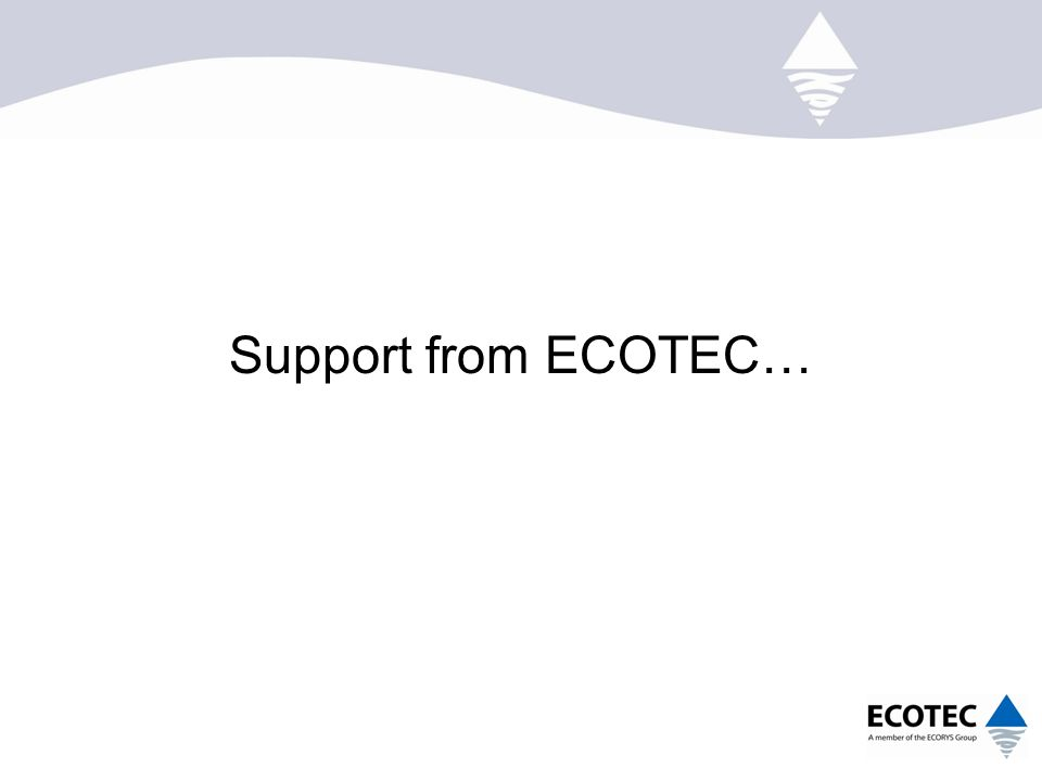 Support from ECOTEC…