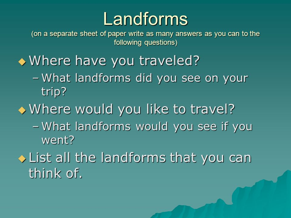landforms definition: any feature of earth's surface having a