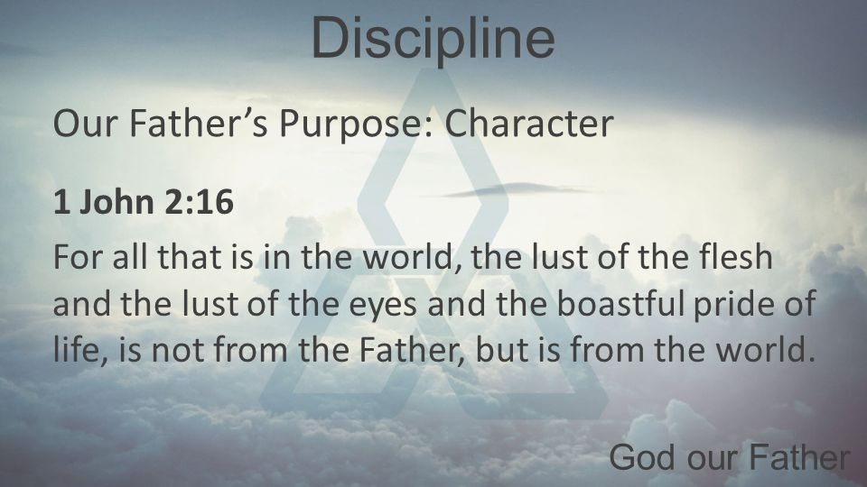 role of discipline in our life