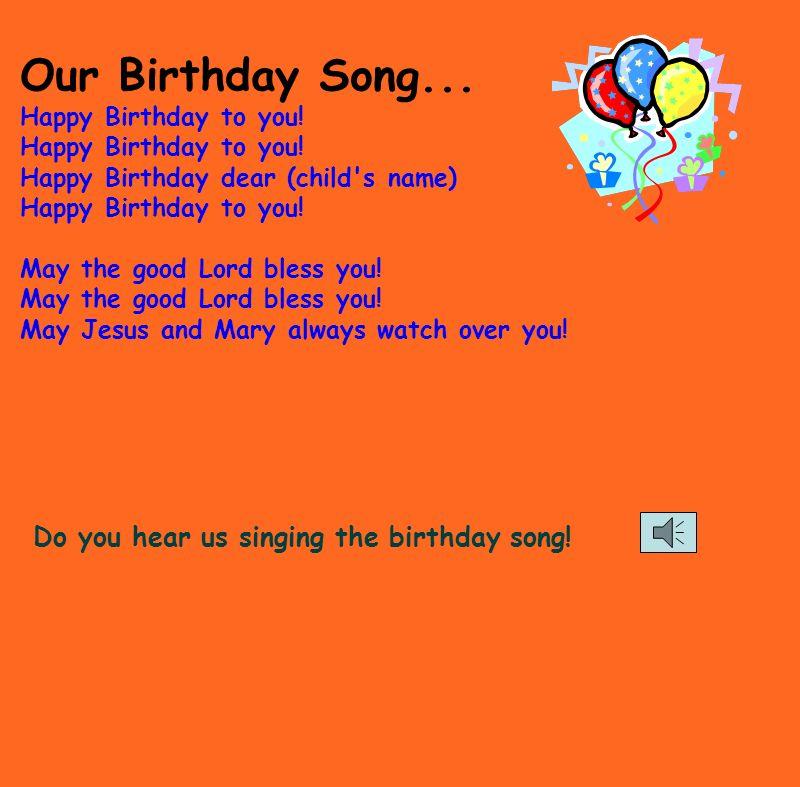 Birthdays    Kindergarten Style! * The class sings a