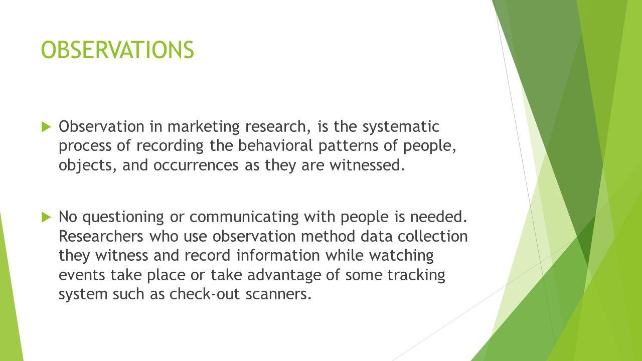 tracking observation method