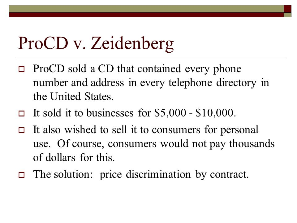 Shrink Wrap Contracts Richard Warner Procd V Zeidenberg Procd
