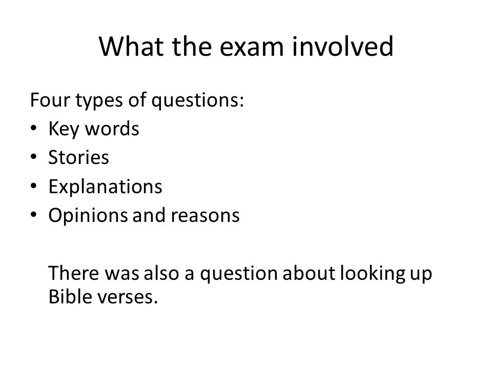 Year 8 Exam – what we learnt Aim: To find out what went