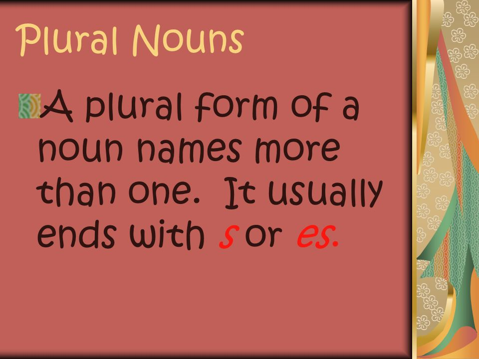 Plural and Singular Nouns 2nd Grade
