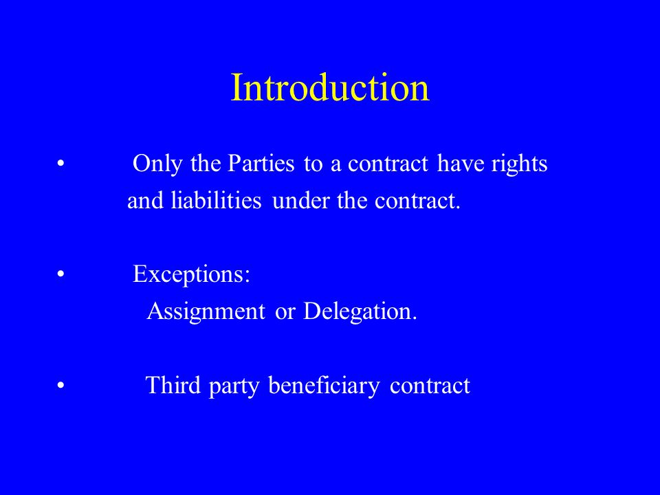 third party beneficiary contract essay A valid contract is comprised of an offer, acceptance and consideration always look to see if the ucc applies first if the contract is a common law contract then omit the issues of ucc and merchants.