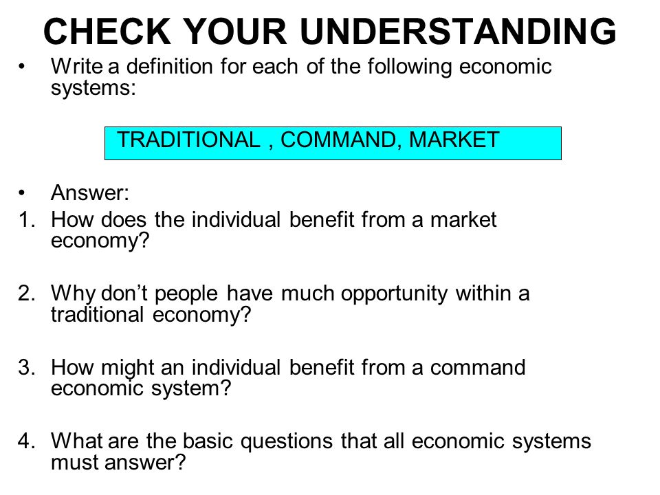 economic systems command market and traditional ppt download