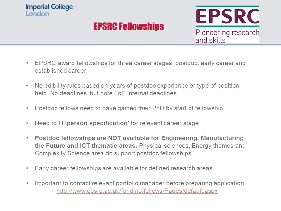 Postdoctoral Fellowship Opportunities in Engineering 11 June