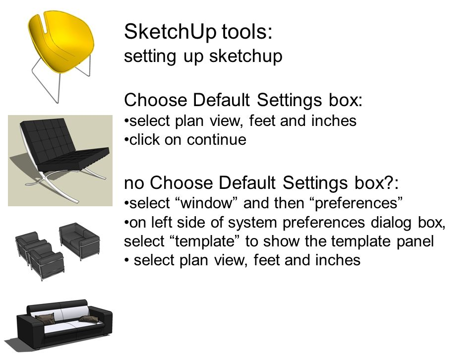 INTD 61 perspective and rendering SketchUp tools  - ppt download