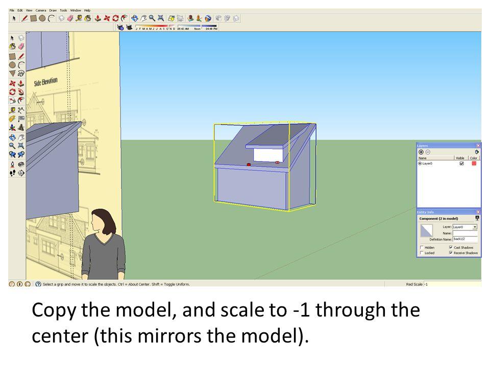 google sketchup mirror copy
