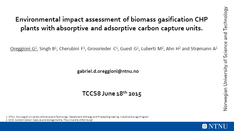 Environmental impact assessment of biomass gasification CHP plants