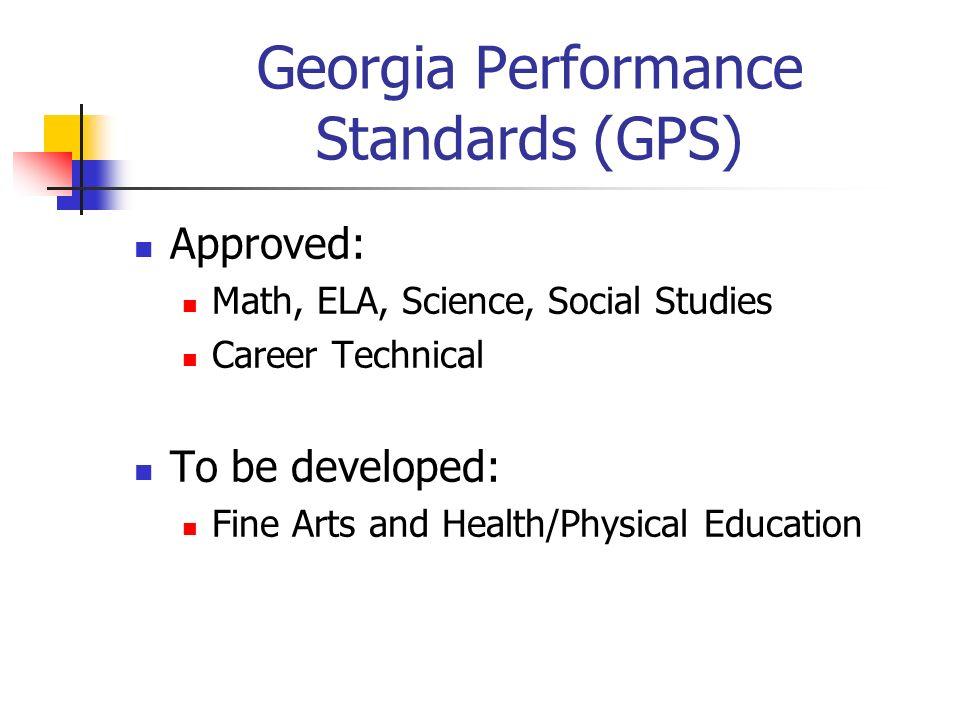 Georgia Performance Standards Curriculum Directors
