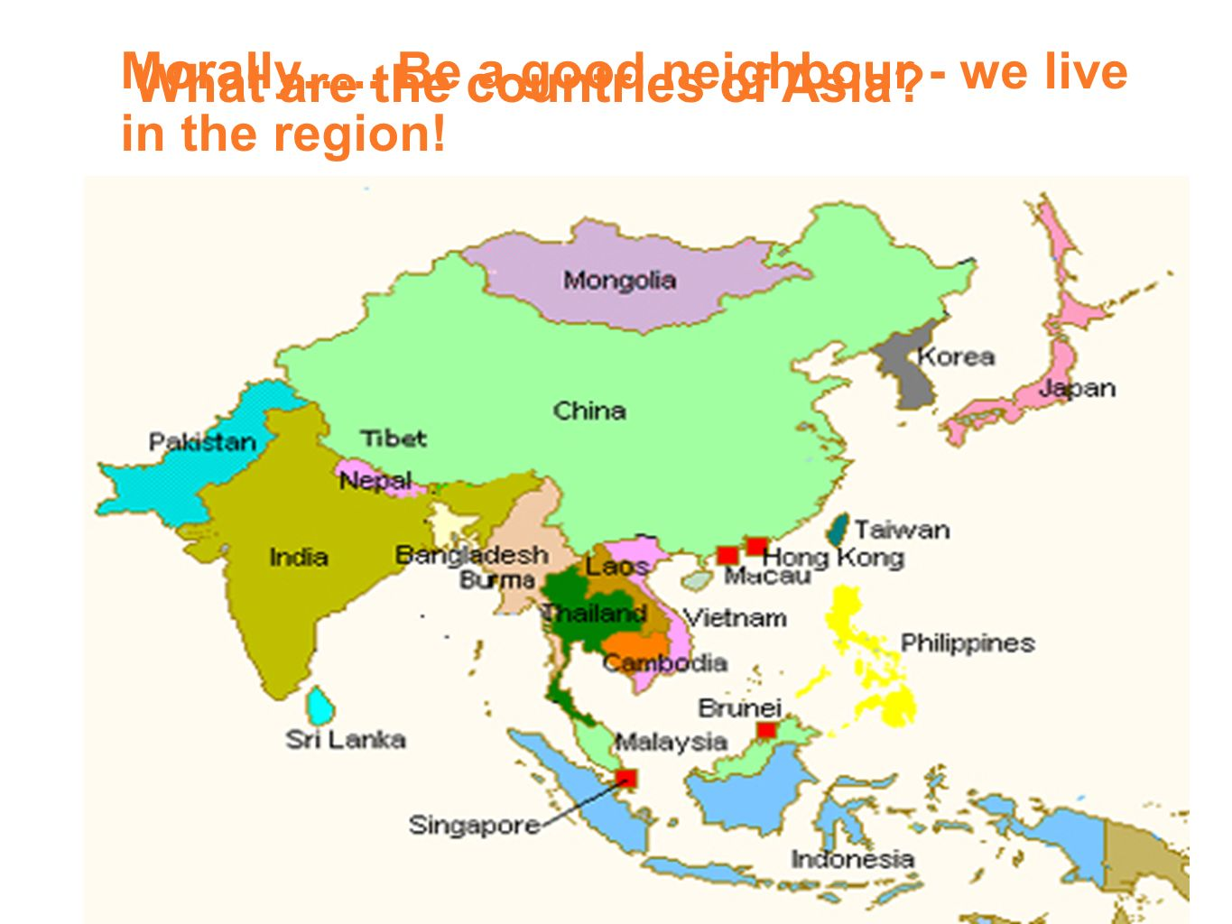 Catholic countries in asia