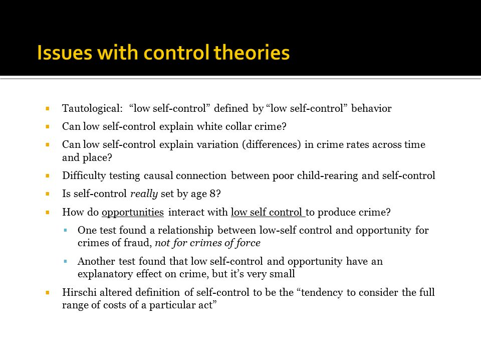 self control theory of crime definition