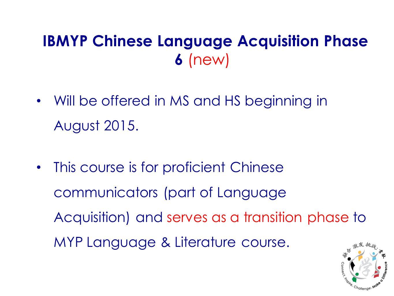 Myp Language Acquisition Phase 2