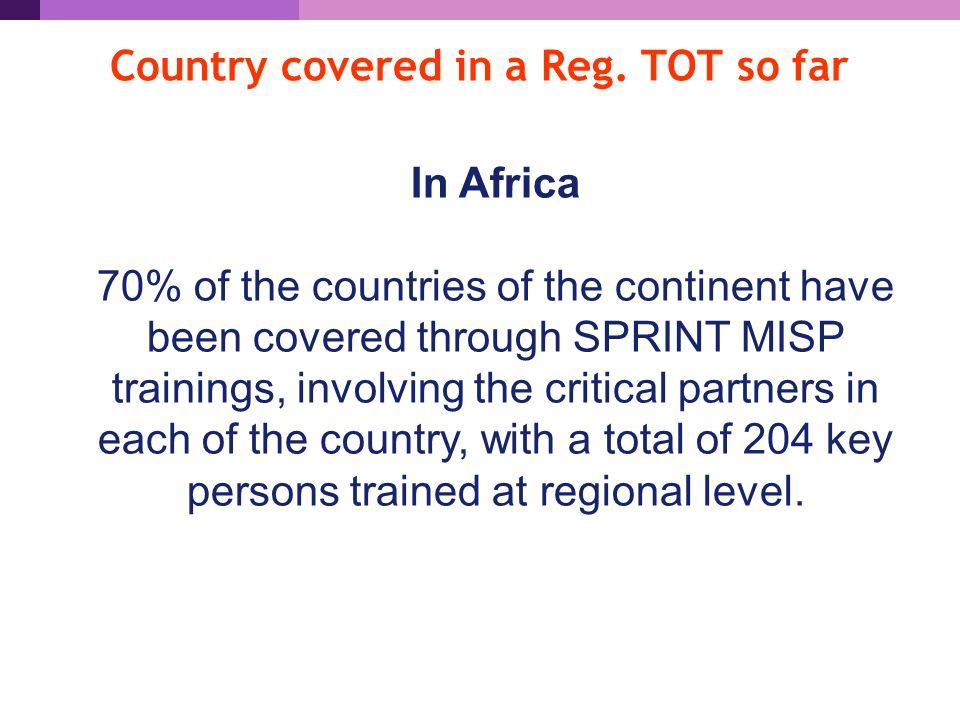 Country covered in a Reg.