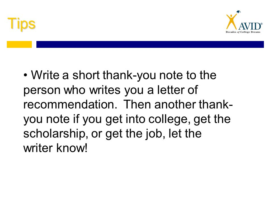 tips write a short thank you note to the person who writes you a letter