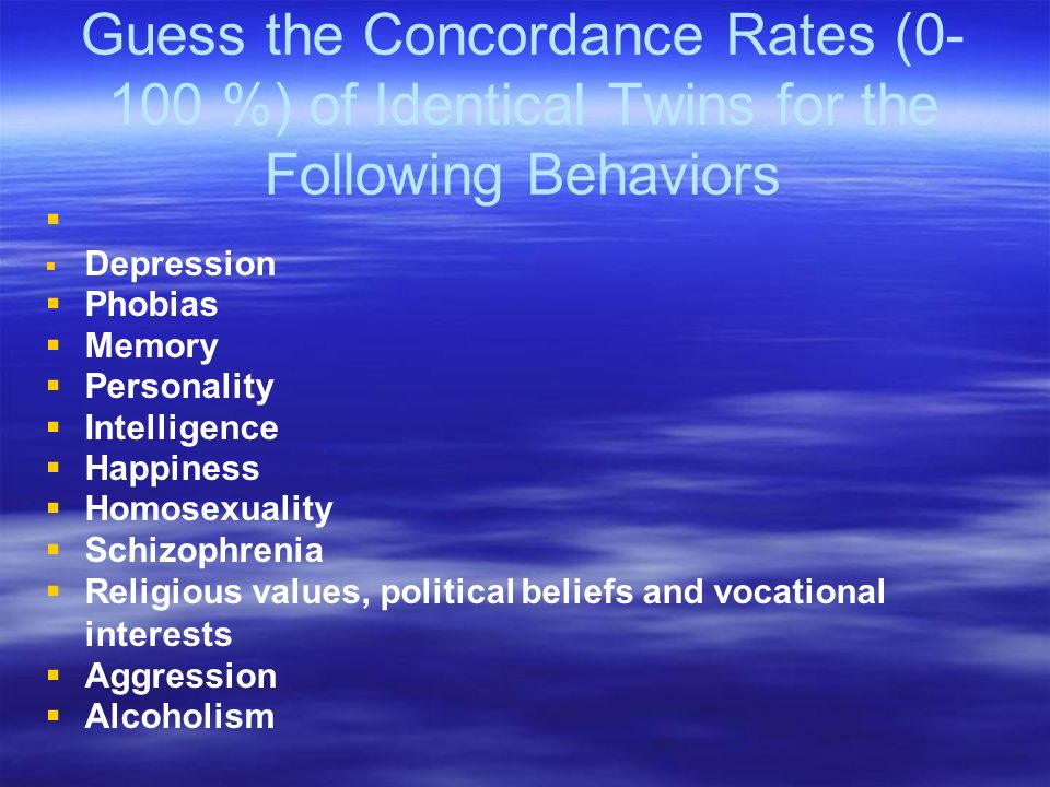Concordance rate identical twins homosexuality