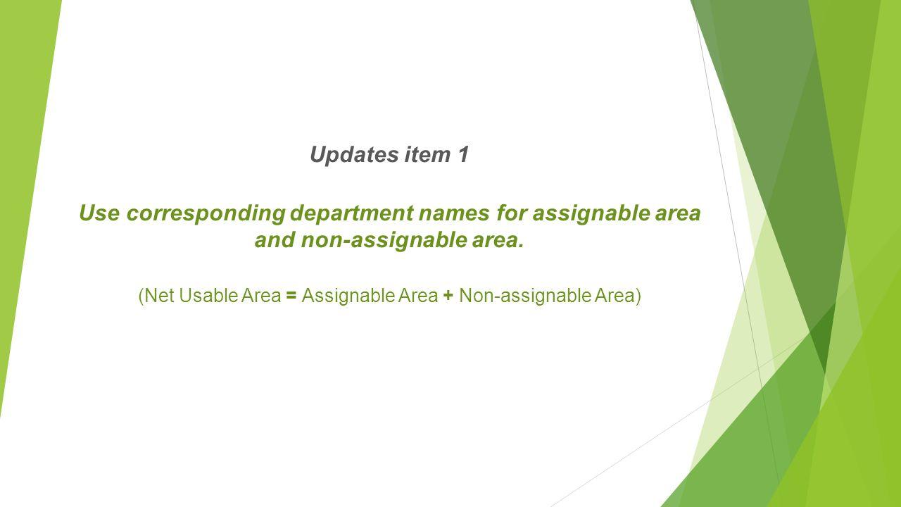 Assignable area