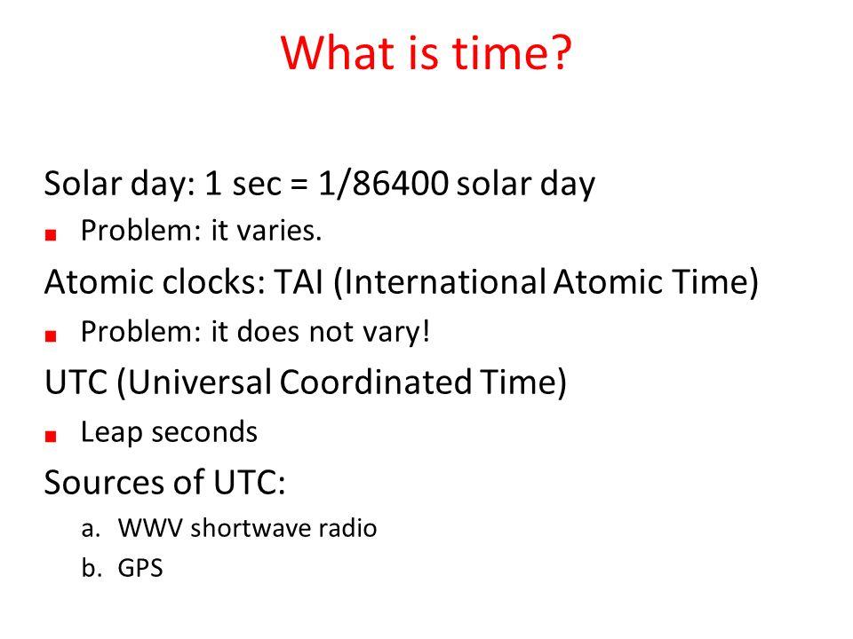 CSC 536 Lecture 1  Outline Synchronization Clock