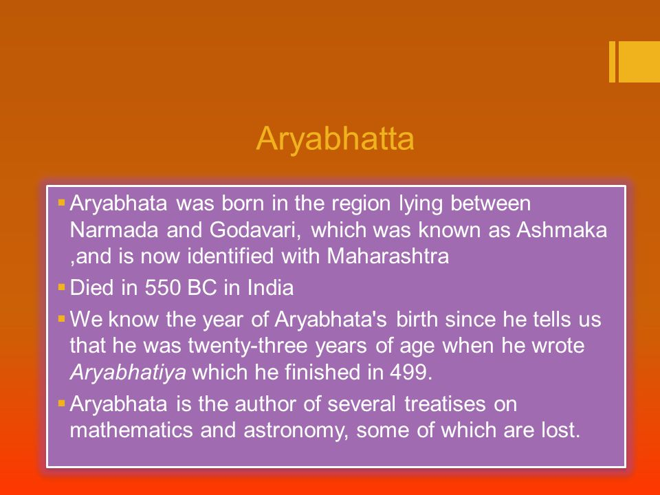 Aryabhatta Biography In Download