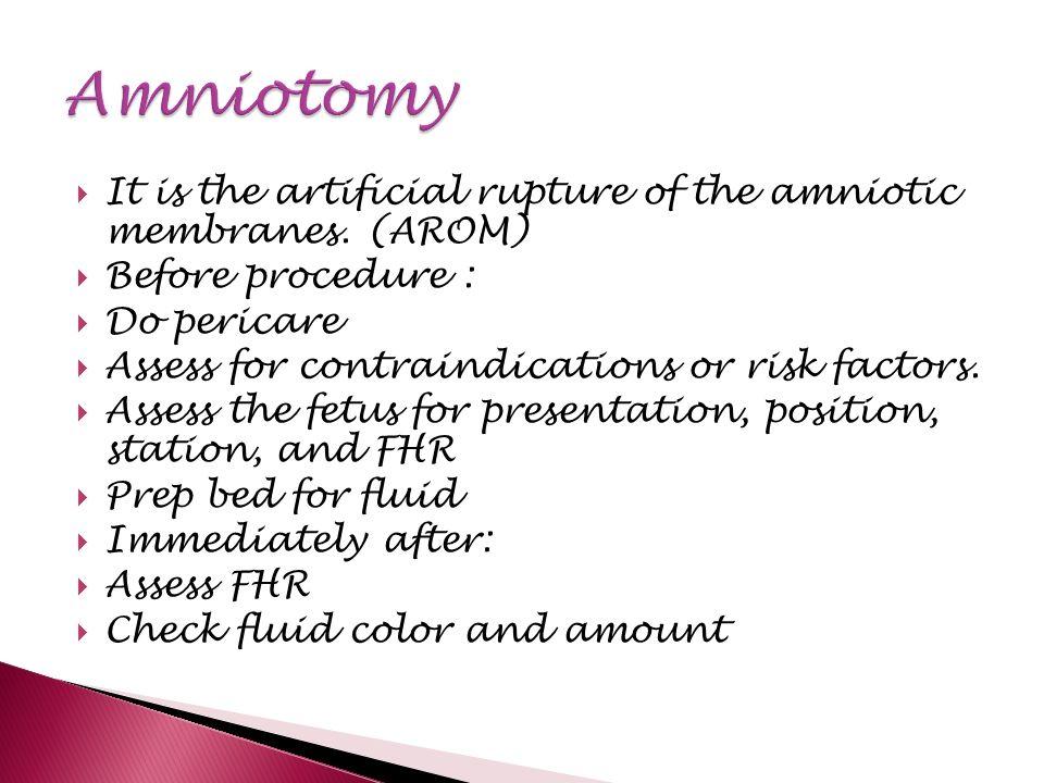 amniotomy