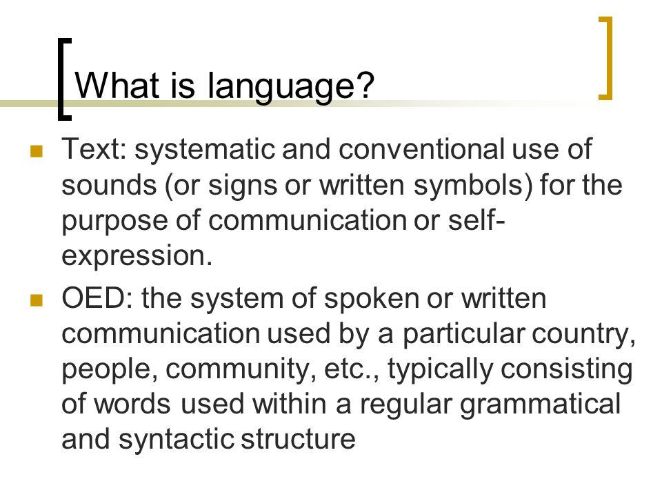 Language Development Background Jan 8 What Is Language Text