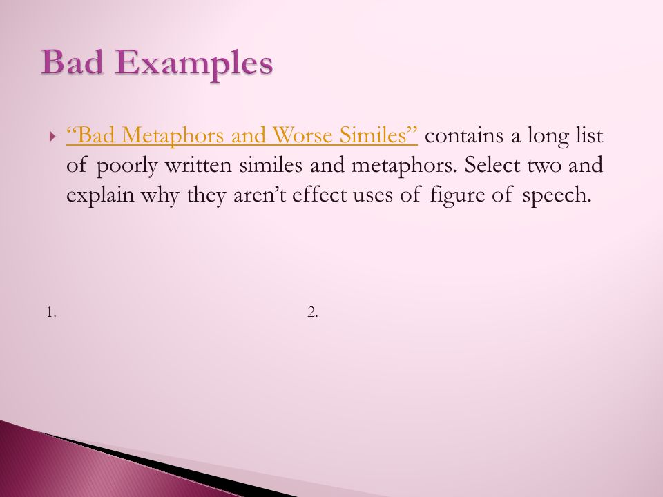 A WebQuest for Differentiating Metaphors and Similes Alexis Thiel