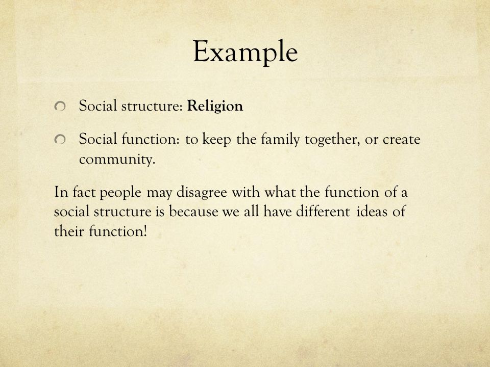 the o reilly factor structural functional approach Functionalism is ideological - functionalism is a conservative social theory by arguing that certain institutions are necessary - such as the family, religion and stratification systems - they are actually justifying the existence of the social order as it is, also by focussing on the positive functions.