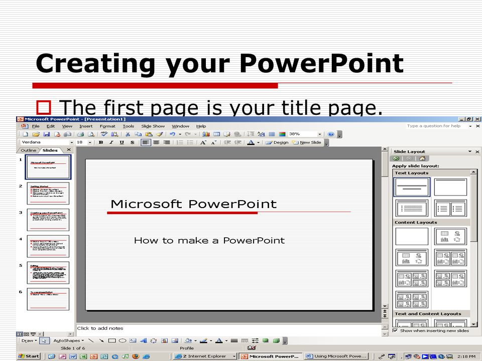 Microsoft Powerpoint How To Make A Powerpoint Getting