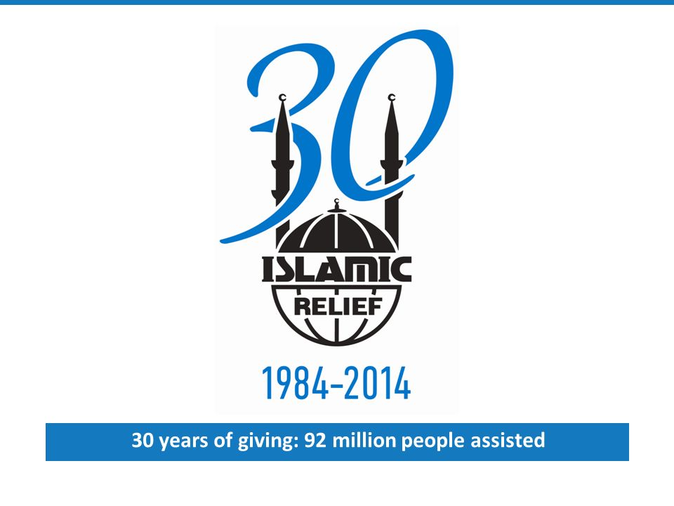 30 years of giving: 92 million people assisted  What is