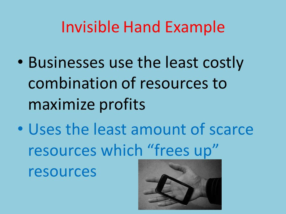 Chapter 2 Presentation 2 Circular Flow Model The Invisible Hand