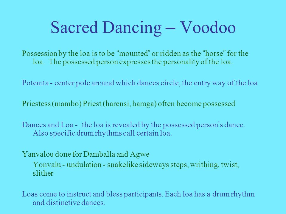 AADH Thursday - Jan 18 Sacred and Secular dance Voodoo Early