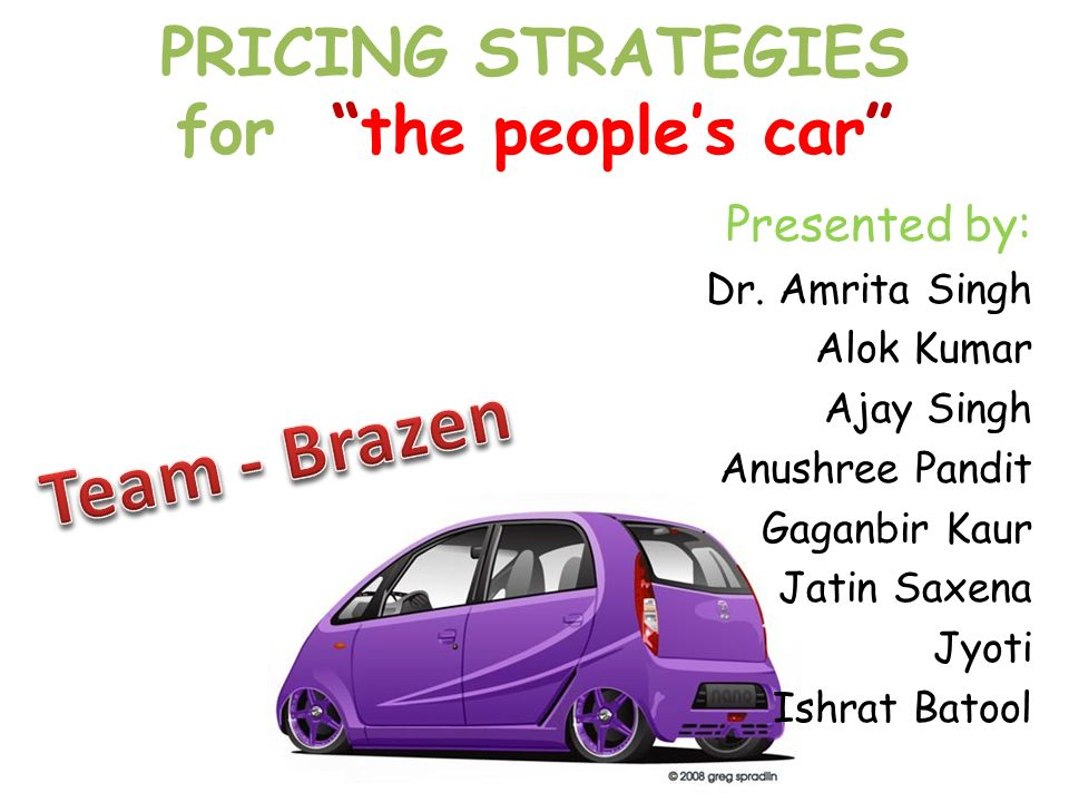 1 PRICING STRATEGIES ...
