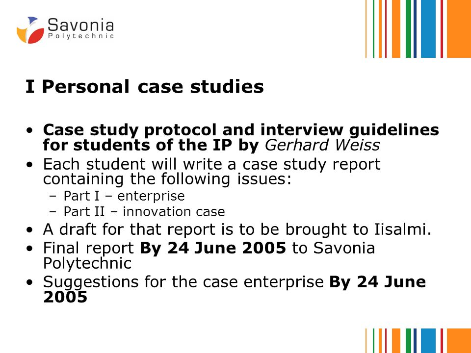 how to write a personal case study