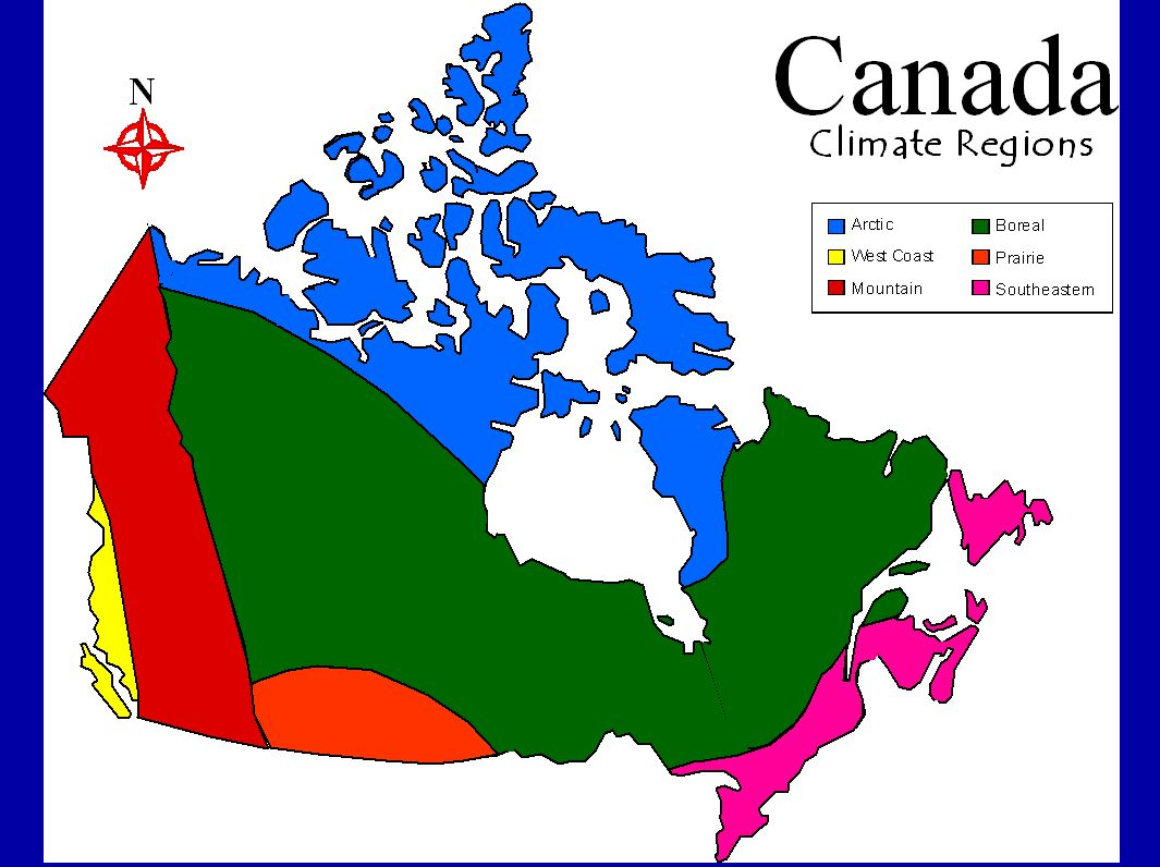 Map Of Canadas 7 Landform Regions.Geography Of Canada Physical Geography Climate Ppt Download