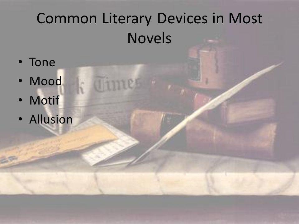most common literary devices