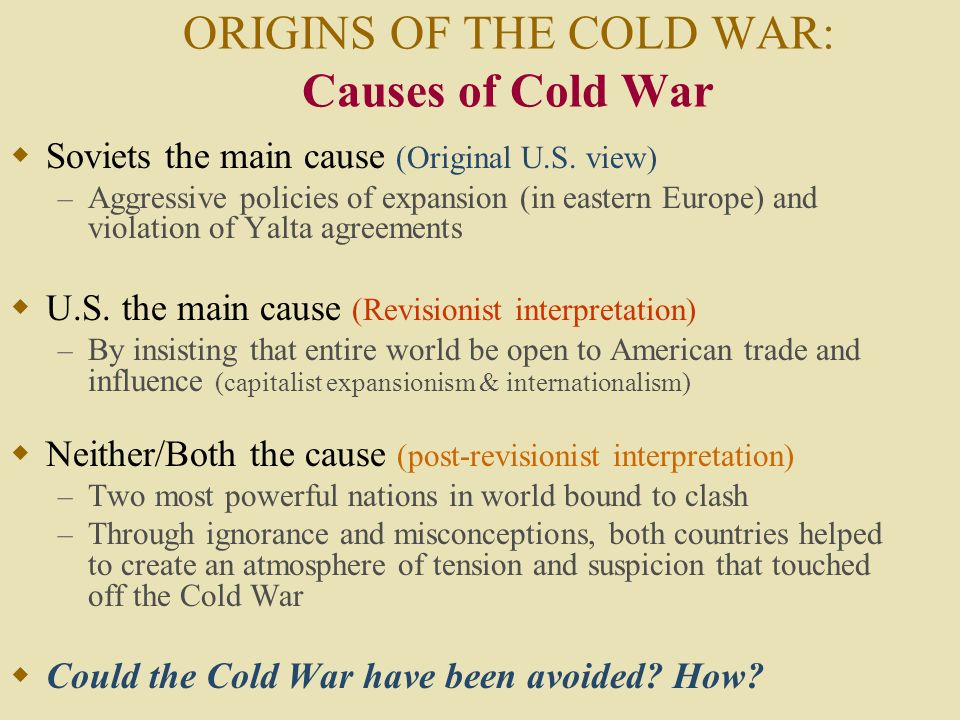 could the cold war have been avoided