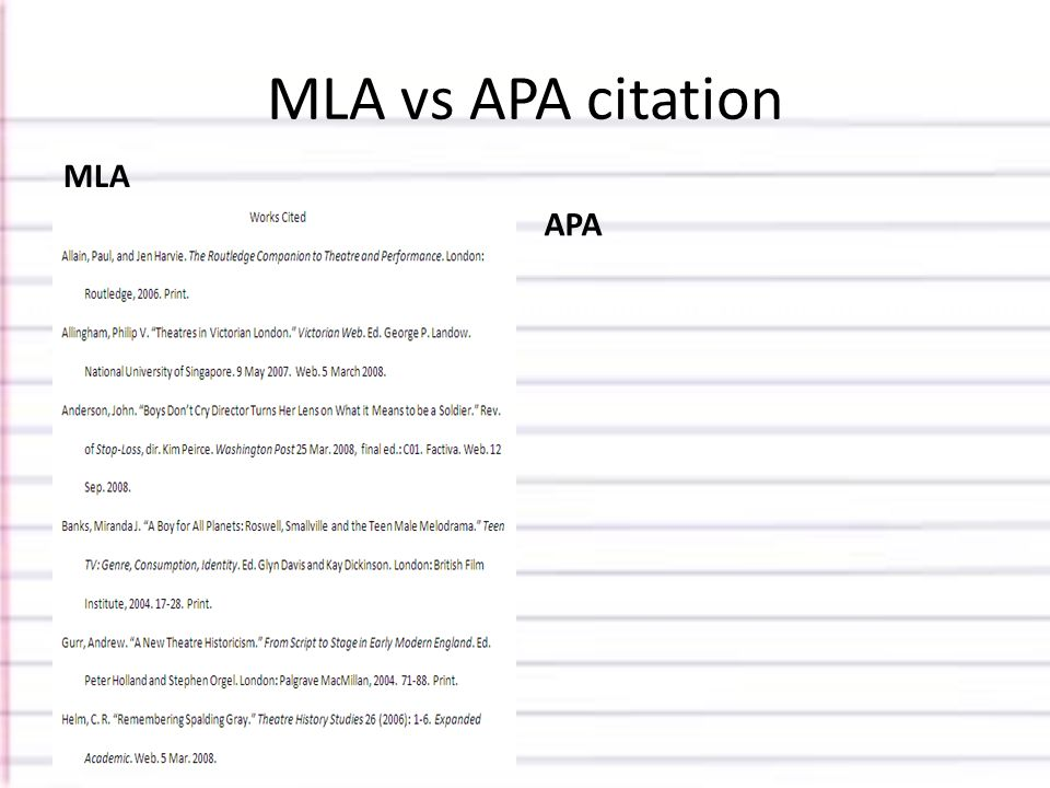 when to use mla vs apa