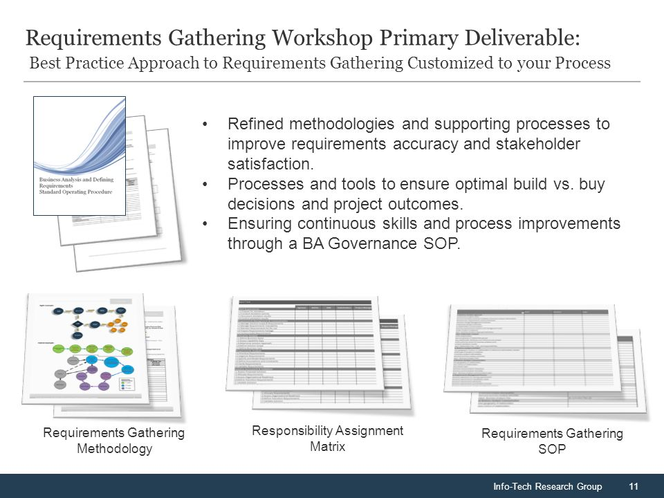 Info Tech Research Group11 Requirements Gathering Workshop Primary Deliverable Best Practice Approach To