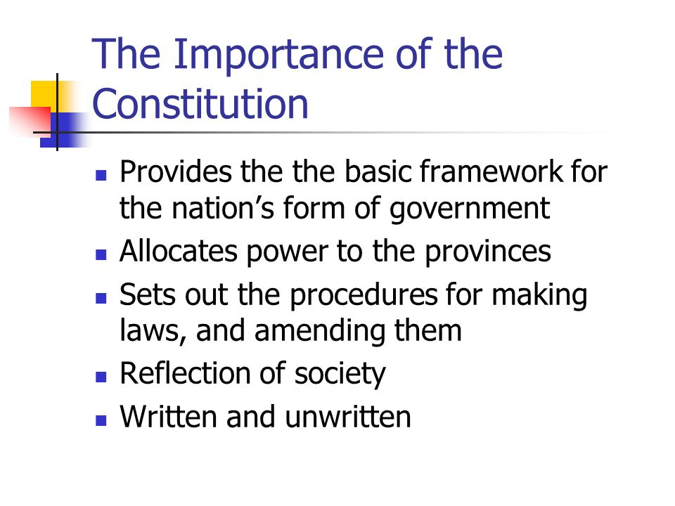 relevance of constitution