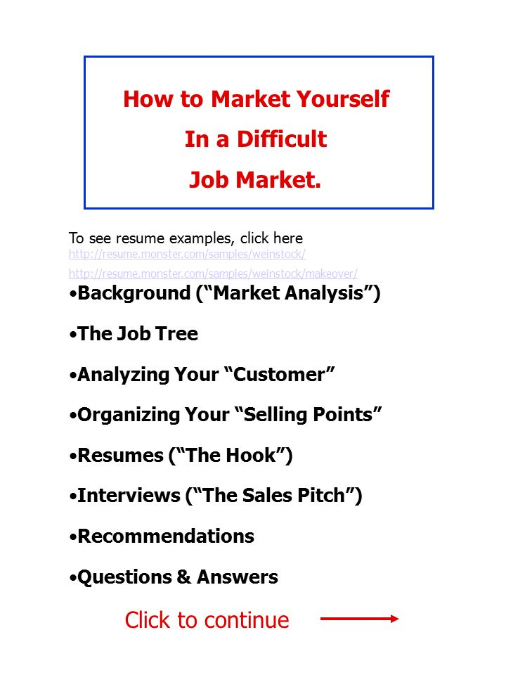 How To Market Yourself In A Difficult Job Market Background